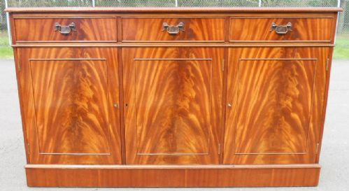 Flame Mahogany Three Door Sideboard Base